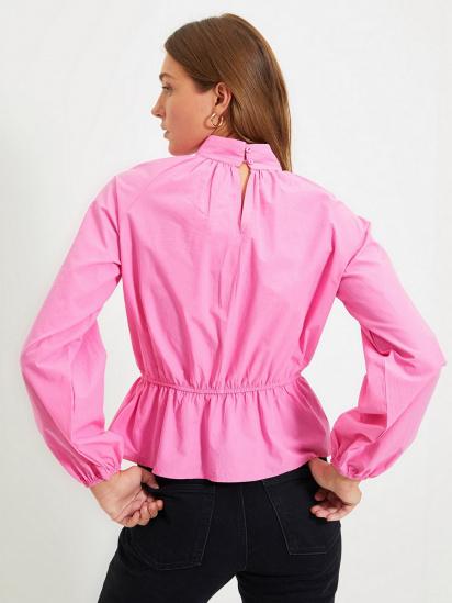Блуза з довгим рукавом Trendyol модель TWOAW22BZ0101/Pembe — фото 4 - INTERTOP