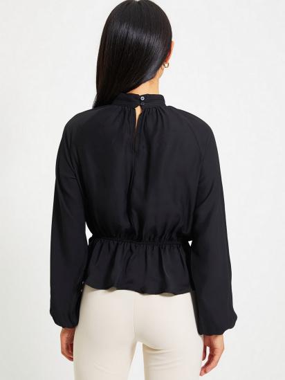 Блуза з довгим рукавом Trendyol модель TWOAW22BZ0101/Siyah — фото 4 - INTERTOP