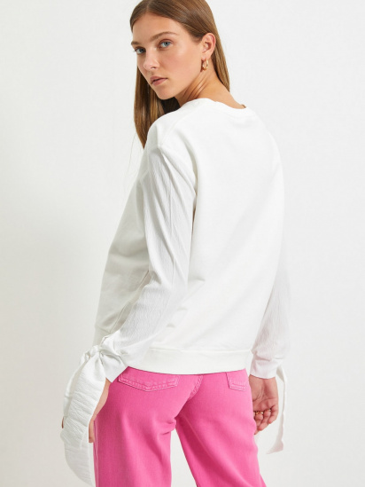Блуза з довгим рукавом Trendyol модель TWOAW22BZ0106/Ekru — фото 5 - INTERTOP