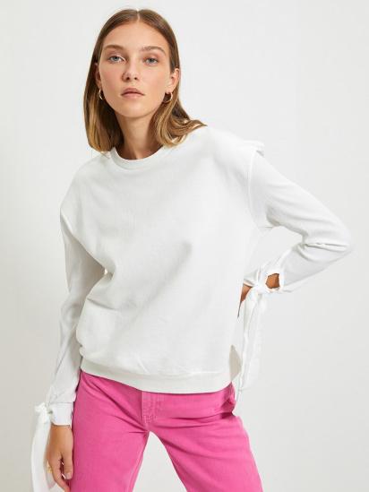 Блуза з довгим рукавом Trendyol модель TWOAW22BZ0106/Ekru — фото - INTERTOP