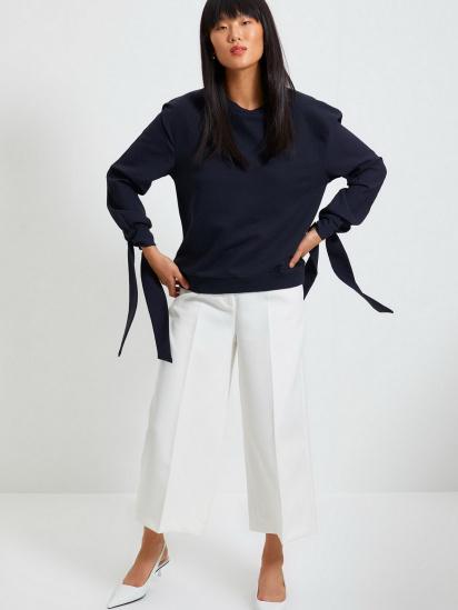 Блуза з довгим рукавом Trendyol модель TWOAW22BZ0106/Lacivert — фото 4 - INTERTOP