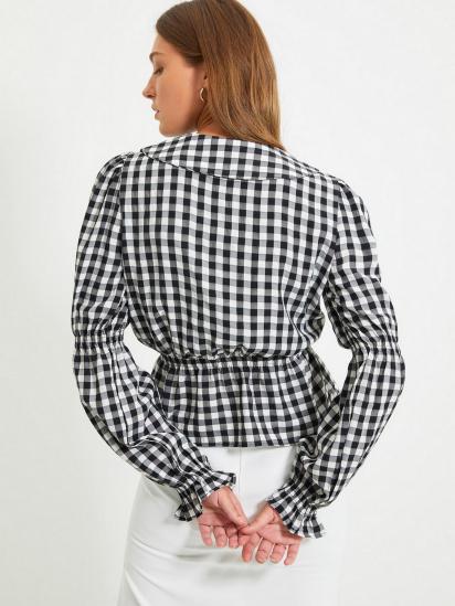 Блуза з довгим рукавом Trendyol модель TWOAW22BZ0165/Siyah — фото 4 - INTERTOP