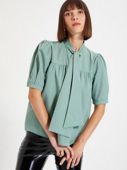 Блуза з коротким рукавом Trendyol модель TWOAW22BZ0167/Mint — фото 3 - INTERTOP