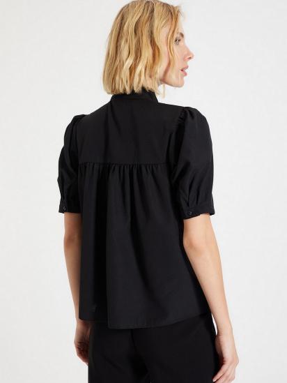 Блуза з коротким рукавом Trendyol модель TWOAW22BZ0167/Siyah — фото 4 - INTERTOP
