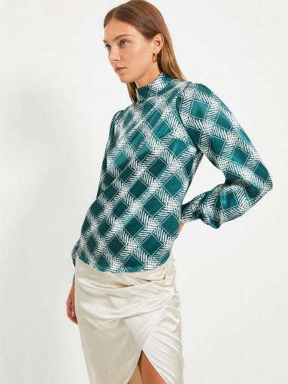 Блуза з довгим рукавом Trendyol модель TWOAW22BZ0171/Zumrut Yesili — фото 3 - INTERTOP