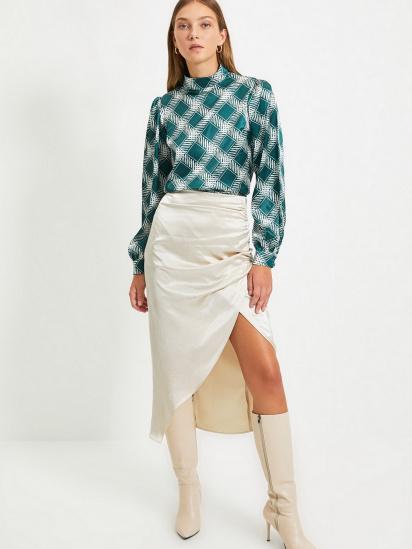 Блуза з довгим рукавом Trendyol модель TWOAW22BZ0171/Zumrut Yesili — фото 4 - INTERTOP