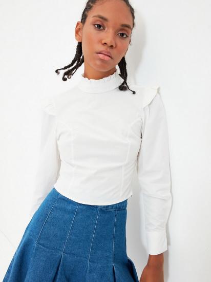 Блуза з довгим рукавом Trendyol модель TWOAW22BZ0185/Ekru — фото 3 - INTERTOP