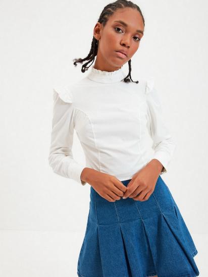 Блуза з довгим рукавом Trendyol модель TWOAW22BZ0185/Ekru — фото 4 - INTERTOP