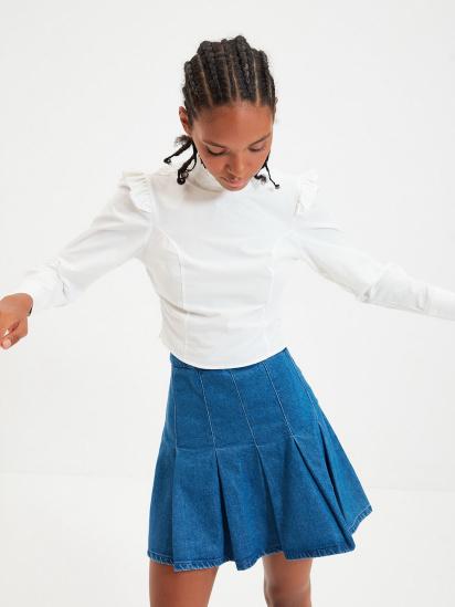 Блуза з довгим рукавом Trendyol модель TWOAW22BZ0185/Ekru — фото - INTERTOP