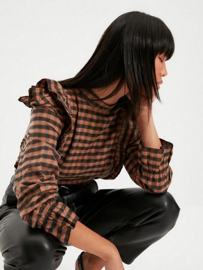 Блуза з довгим рукавом Trendyol модель TWOAW22BZ0226/Kahverengi — фото 3 - INTERTOP
