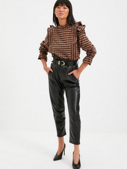 Блуза з довгим рукавом Trendyol модель TWOAW22BZ0226/Kahverengi — фото 4 - INTERTOP