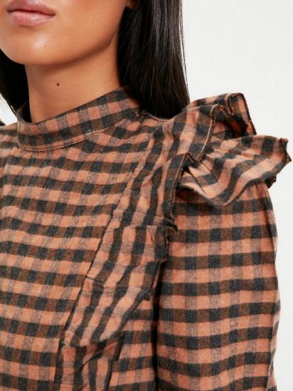 Блуза з довгим рукавом Trendyol модель TWOAW22BZ0226/Kahverengi — фото 5 - INTERTOP