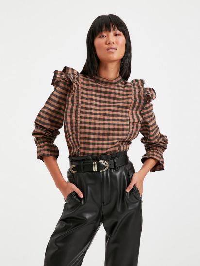 Блуза з довгим рукавом Trendyol модель TWOAW22BZ0226/Kahverengi — фото - INTERTOP