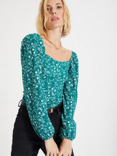 Блуза з довгим рукавом Trendyol модель TWOAW22BZ0254/Yesil — фото 3 - INTERTOP