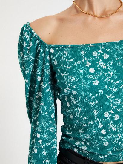 Блуза з довгим рукавом Trendyol модель TWOAW22BZ0254/Yesil — фото 4 - INTERTOP