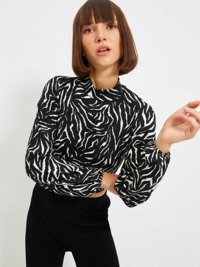 Блуза з довгим рукавом Trendyol модель TWOAW22BZ0260/Beyaz — фото 2 - INTERTOP