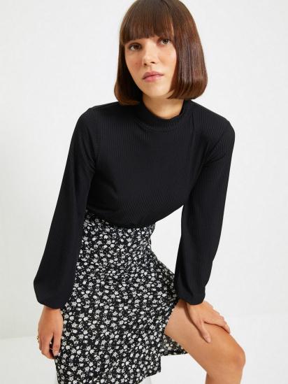 Блуза з довгим рукавом Trendyol модель TWOAW22BZ0260/Siyah — фото 3 - INTERTOP