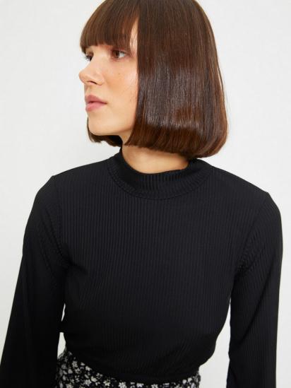 Блуза з довгим рукавом Trendyol модель TWOAW22BZ0260/Siyah — фото 4 - INTERTOP