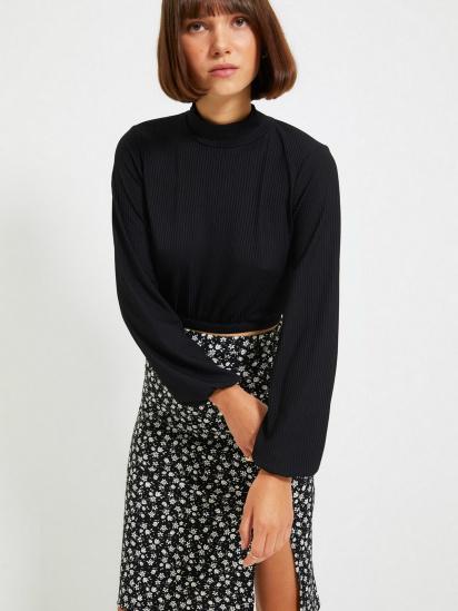 Блуза з довгим рукавом Trendyol модель TWOAW22BZ0260/Siyah — фото 5 - INTERTOP