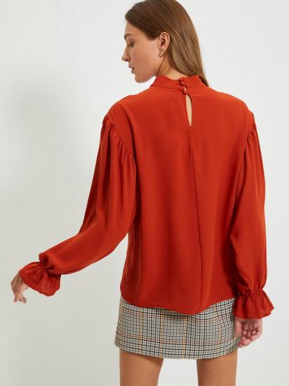 Блуза з довгим рукавом Trendyol модель TWOAW22BZ0339/Kiremit — фото 3 - INTERTOP