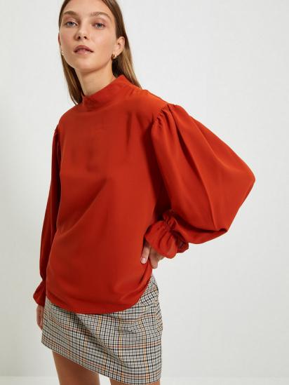 Блуза з довгим рукавом Trendyol модель TWOAW22BZ0339/Kiremit — фото 4 - INTERTOP