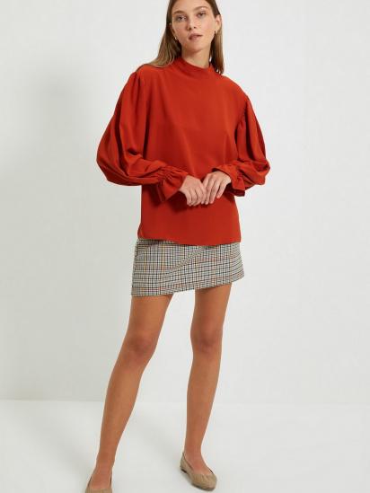 Блуза з довгим рукавом Trendyol модель TWOAW22BZ0339/Kiremit — фото 5 - INTERTOP