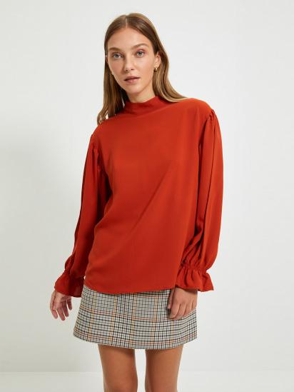 Блуза з довгим рукавом Trendyol модель TWOAW22BZ0339/Kiremit — фото - INTERTOP
