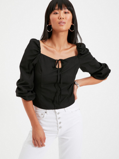 Блуза з довгим рукавом Trendyol модель TWOAW22BZ0357/Siyah — фото 2 - INTERTOP