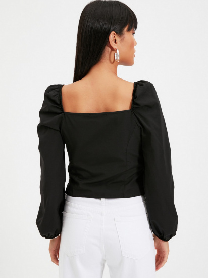 Блуза з довгим рукавом Trendyol модель TWOAW22BZ0357/Siyah — фото 4 - INTERTOP
