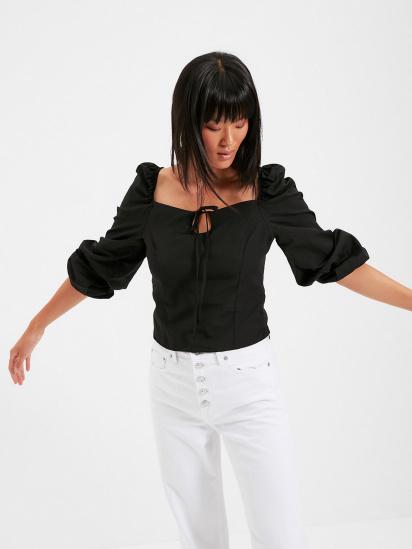 Блуза з довгим рукавом Trendyol модель TWOAW22BZ0357/Siyah — фото - INTERTOP