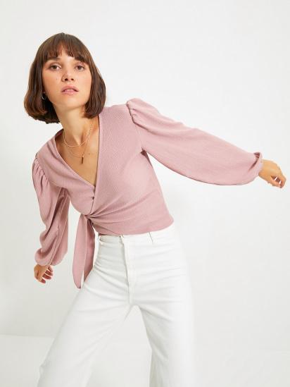 Блуза з довгим рукавом Trendyol модель TWOAW22BZ0458/Gul Kurusu — фото - INTERTOP