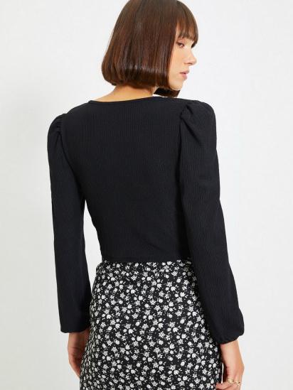 Блуза з довгим рукавом Trendyol модель TWOAW22BZ0460/Siyah — фото 2 - INTERTOP