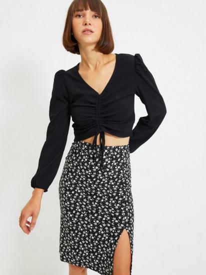 Блуза з довгим рукавом Trendyol модель TWOAW22BZ0460/Siyah — фото 3 - INTERTOP