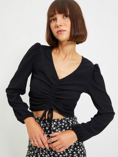 Блуза з довгим рукавом Trendyol модель TWOAW22BZ0460/Siyah — фото 4 - INTERTOP