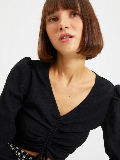 Блуза з довгим рукавом Trendyol модель TWOAW22BZ0460/Siyah — фото 5 - INTERTOP