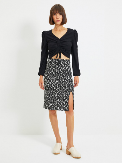 Блуза з довгим рукавом Trendyol модель TWOAW22BZ0460/Siyah — фото - INTERTOP