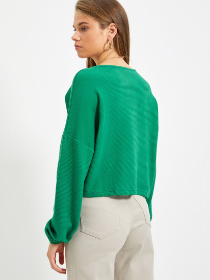 Блуза з довгим рукавом Trendyol модель TWOAW22BZ0463/Yesil — фото 2 - INTERTOP