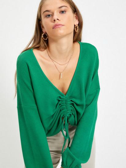Блуза з довгим рукавом Trendyol модель TWOAW22BZ0463/Yesil — фото 3 - INTERTOP