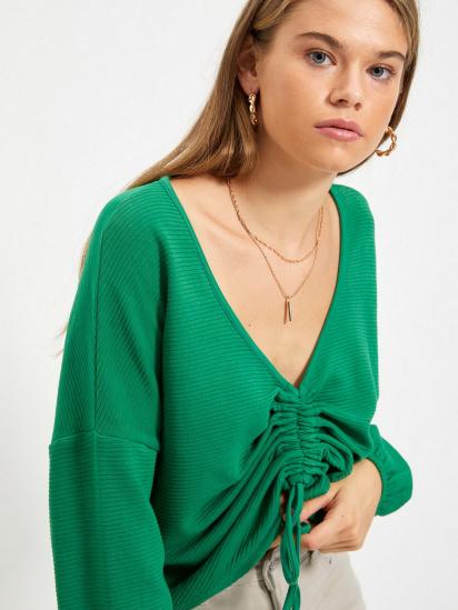Блуза з довгим рукавом Trendyol модель TWOAW22BZ0463/Yesil — фото 4 - INTERTOP