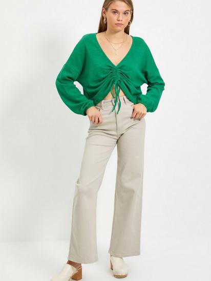 Блуза з довгим рукавом Trendyol модель TWOAW22BZ0463/Yesil — фото 5 - INTERTOP