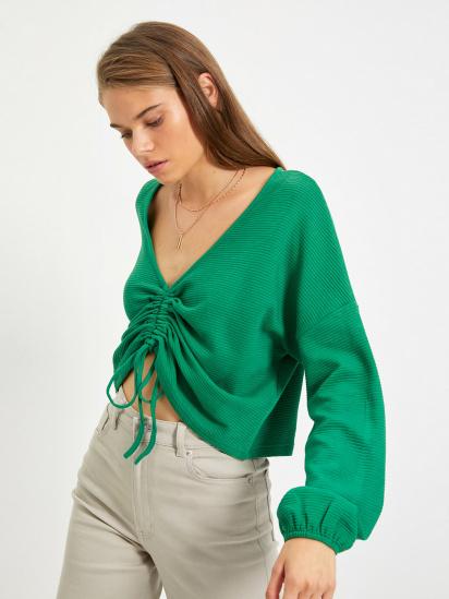 Блуза з довгим рукавом Trendyol модель TWOAW22BZ0463/Yesil — фото - INTERTOP