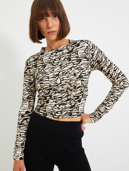 Блуза з довгим рукавом Trendyol модель TWOAW22BZ0505/Kahverengi — фото - INTERTOP