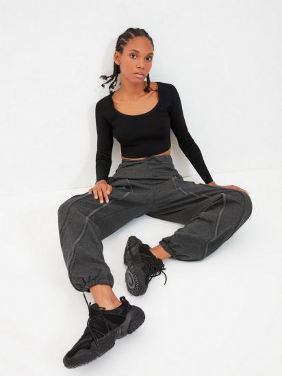Спортивні штани Trendyol модель TWOAW22EA0044/Antrasit — фото 4 - INTERTOP