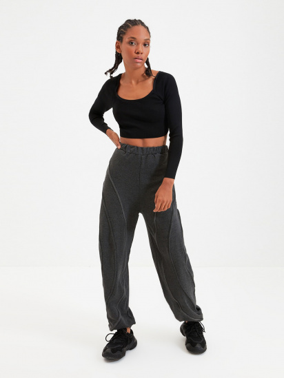 Спортивні штани Trendyol модель TWOAW22EA0044/Antrasit — фото - INTERTOP