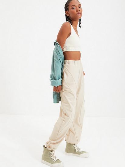Спортивні штани Trendyol модель TWOAW22EA0044/Bej — фото 3 - INTERTOP