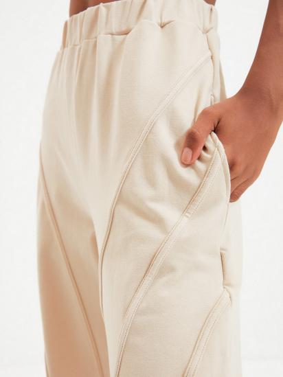 Спортивні штани Trendyol модель TWOAW22EA0044/Bej — фото 4 - INTERTOP