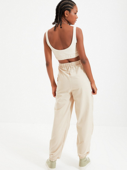 Спортивні штани Trendyol модель TWOAW22EA0044/Bej — фото 5 - INTERTOP