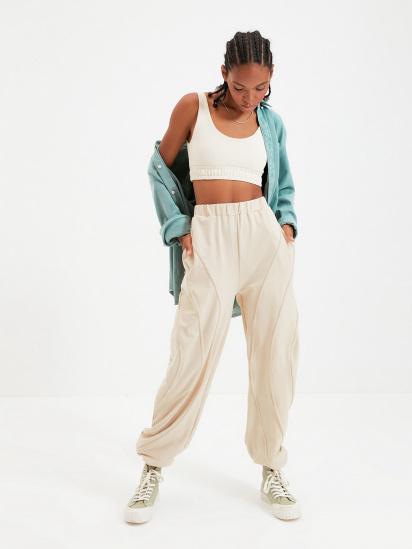 Спортивні штани Trendyol модель TWOAW22EA0044/Bej — фото - INTERTOP