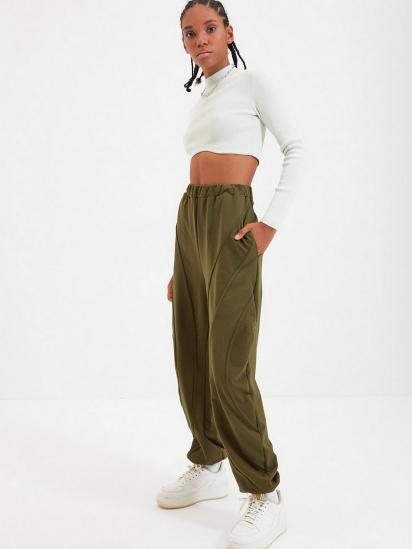 Спортивні штани Trendyol модель TWOAW22EA0044/Haki — фото 2 - INTERTOP