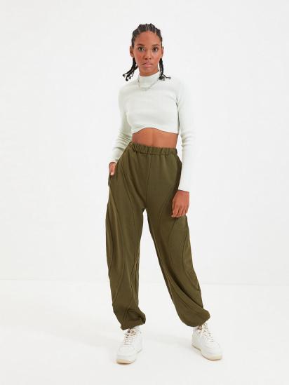 Спортивні штани Trendyol модель TWOAW22EA0044/Haki — фото - INTERTOP